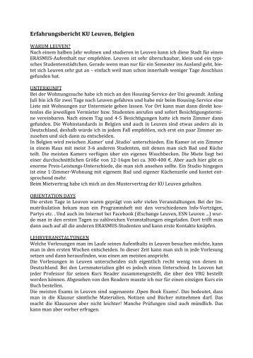 Erfahrungsbericht WS 12/13 - Erasmus