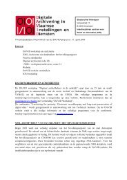 Tweemaandelijkse Nieuwsbrief van het DAVID-project nr. 17. april ...