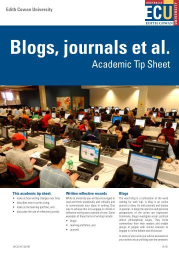 Blogs Journals et al.pdf - Edith Cowan University
