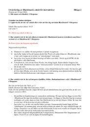 Utvärdering av Blackboard, enkät för instruktörer Bilaga 2