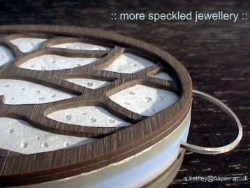 more speckled jewellery