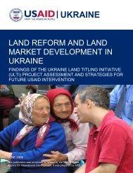 Ukraine Land Reform Assessment Report - Land Tenure and ...