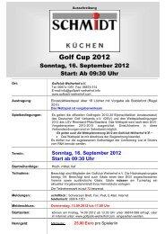 schmidt küchen golf cup 2012 - Golfpark Weiherhof