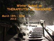Winter School on THERAPEUTIC ULTRASOUND