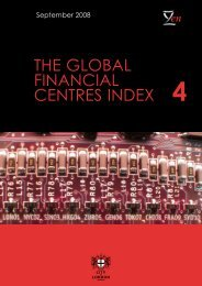 The Global Financial Centres Index - 4 - Z/Yen