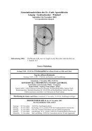 Gemeindeblatt von September - November 2003 - Apostelkirche ...