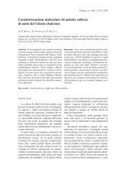 Caratterizzazione molecolare di antiche cultivar di melo del Cilento ...