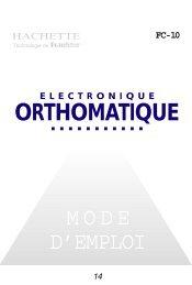 MODE D'EMPLOI ORTHOMATIQUE - Franklin Electronic Publishers