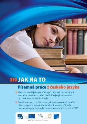 písemná práce z českého jazyka