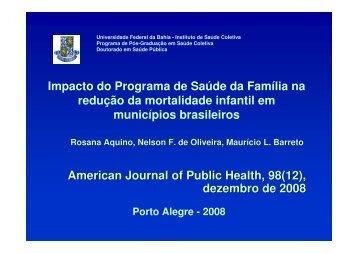 Impacto do Programa de Saúde da Família na redução da ... - Epi2008