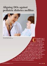 Aligning DOs against pediatric diabetes mellitus - CECity
