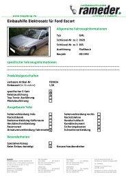 Einbauhilfe Elektrosatz für Ford Escort