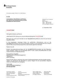 Kooperationsvereinbarung - KSK Kreissparkasse Saarpfalz