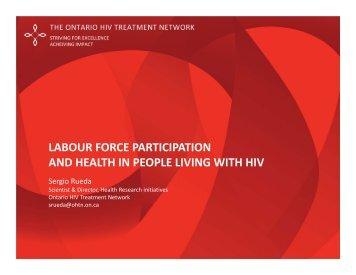 Labour force participation and health in people living with HIV