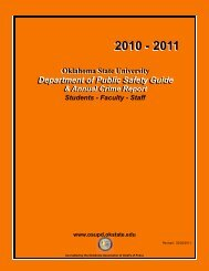 Public Safety Guide 2010-2011 - Oklahoma State University - Police ...
