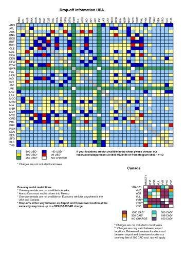 drop-off sheet USA & Canada 2013-2014 - Alamo