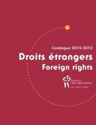 Droits étrangers • Foreign Rights - Agence Ambre Communication