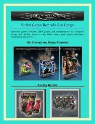 Video Game Rentals San Diego