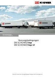 Nutzungsbedingungen DB SCHENKERtop DB SCHENKERtop 12