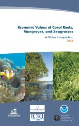 Economic Values of Coral Reefs, Mangroves, and Seagrasses