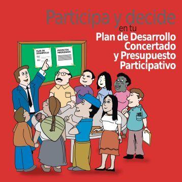 Cartilla. Participa y decide en tu Plan de Desarrollo Concertado y ...