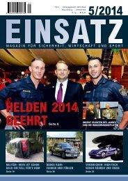 Einsatz Ausgabe  5/2014, Magazin für Sicherheit, Wirtschaft und Sport
