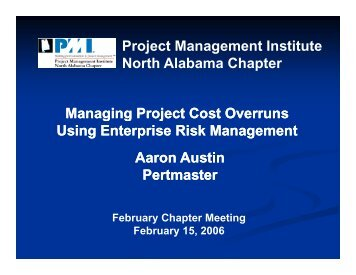 North Alabama Chapter - Project Management Institute