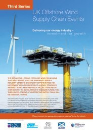 UK Offshore Wind Supply Chain Events - EEEGR