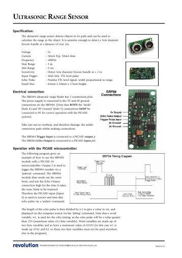 Evolution unit 2 industri ultrasonic range sensor picaxe sciox Images