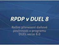 Podrobný návod zpracování RPDP v programu DUEL