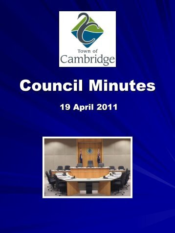 Council Minutes - Town of Cambridge