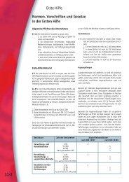 11-2 Normen, Vorschriften und Gesetze in der Ersten Hilfe Erste Hilfe