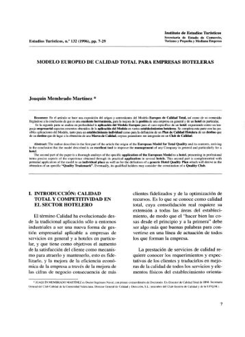 MODELO EUROPEO DE CALIDAD TOTAL PARA EMPRESAS ...