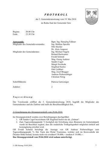 5. Gemeinderatsprotokoll (166 KB) - .PDF - Gemeinde Oetz - Land ...