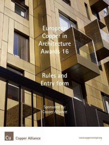Entry form - Copper Development Association