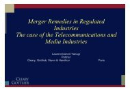 Merger Remedies in Regulated Industries The case of the ... - Cerna