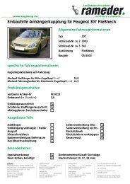 Einbauhilfe Anhängerkupplung für Peugeot 307 ... - AutoFaszination