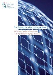 Imagebroschüre im pdf-Format - Deutsches Klima Konsortium