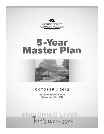 5-Year Master Plan October 2012 - Monroe County Community ...