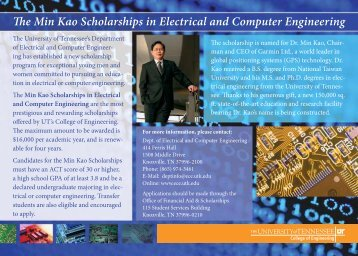 The Min Kao Scholarships in Electrical and Computer Engineering ...