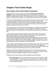 Chippery Tubs Cookie Dough - Easy Fundraising Ideas