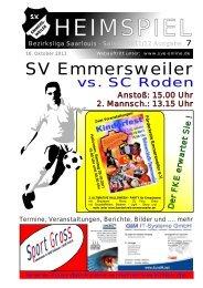 """Download """"HEIMSPIEL"""" Ausgabe 7 - Förderkreis Emmersweiler eV"""