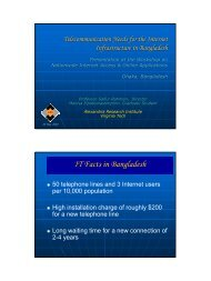 IT Facts in Bangladesh - ceage - Virginia Tech
