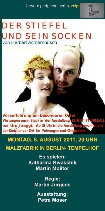 der stiefel und sein socken - Katharina Kwaschik >>> Schauspielerin