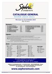 Catalogue Général MAJ 01/11/10 - Sephoramusic.com
