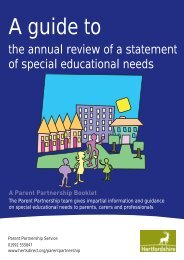 A guide to annual reviews? - Hertfordshire County Council