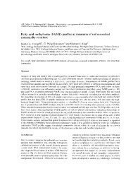 Fatty acid methyl ester (FAME) profiles as measures of soil microbial ...