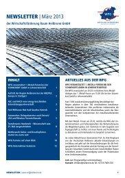 NEWSLETTER | März 2013 - Wirtschaftsförderung Raum Heilbronn ...