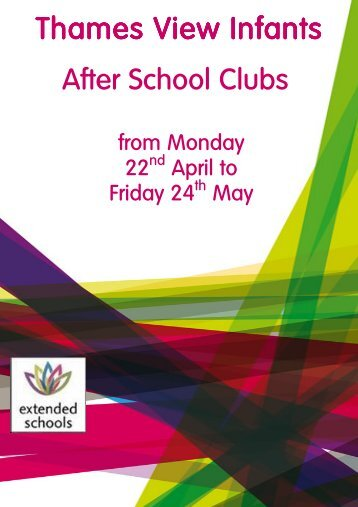 Afterschool Club Term 3a - The Thames View Infants School ...