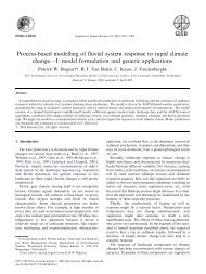 Process-based modelling of fluvial system response to rapid climate ...